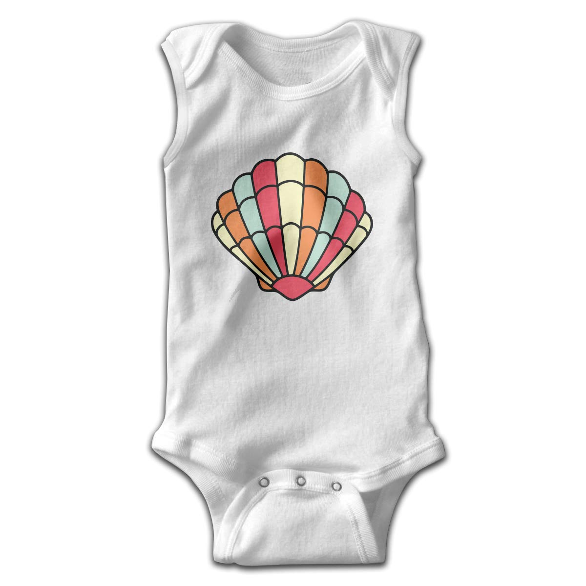 Efbj Toddler Baby Boys Rompers Sleeveless Cotton Onesie,Shell Colorful Outfit Autumn Pajamas