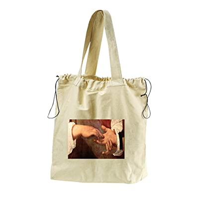 The Fortune Teller #2 (Caravaggio) Canvas Drawstring Beach Tote Bag