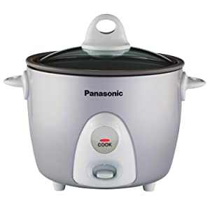 Panasonic Rice Cooker & Multi-Cooker SR-G06FGL, 3-Cup (Uncooked) with One-Step Automatic Cooking, Silver