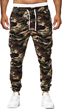 Amlaiworld_Hombre Chándal Hombre Pantalones Casuales de ...