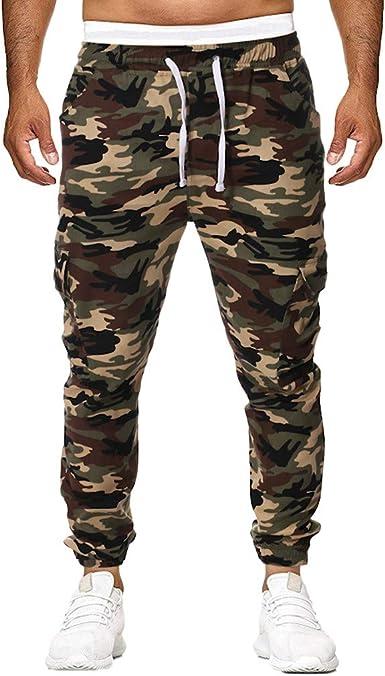 JiaMeng Pantalon Cargo Hombre Pantalones de chándal ...