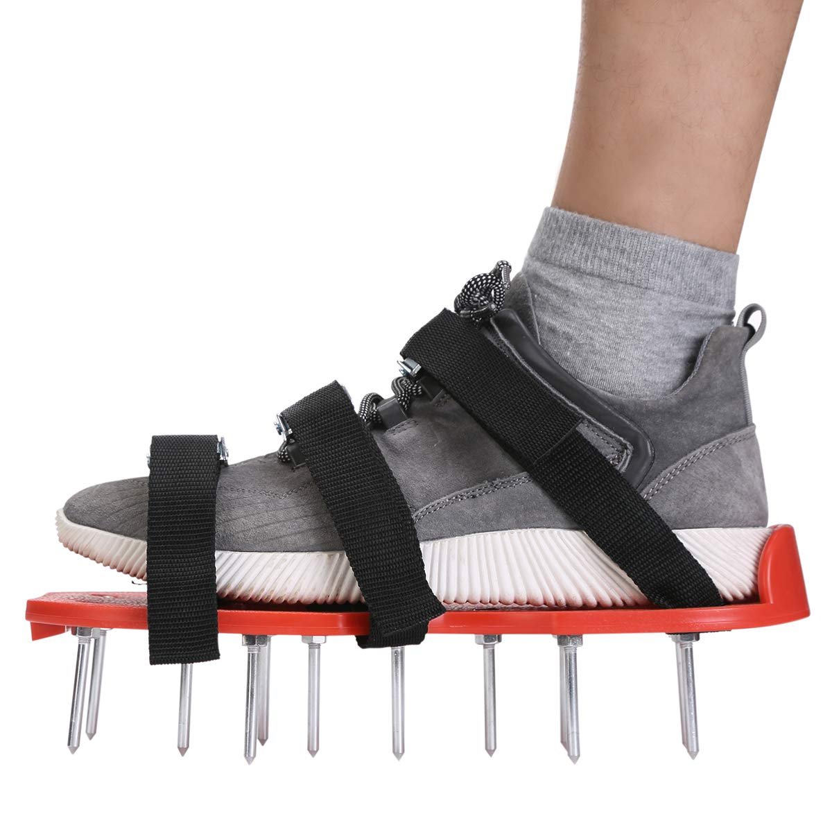 Navegando Lawn Aerator Spike Shoes- Yard Garden Tools with Heavy Duty Steel Spikes, Adjustable Straps and Metal Buckles Kit