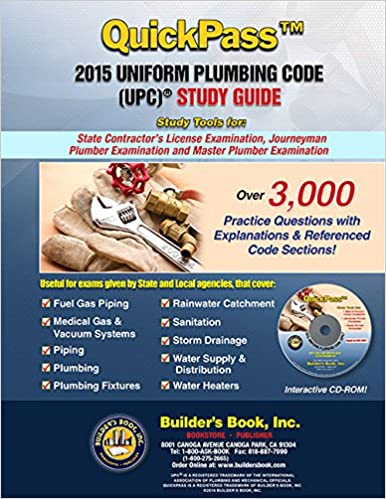 Quickpasstm 2015 uniform plumbing code upc study guide builders quickpasstm 2015 uniform plumbing code upc study guide builders book inc 9781622701339 amazon books fandeluxe Image collections