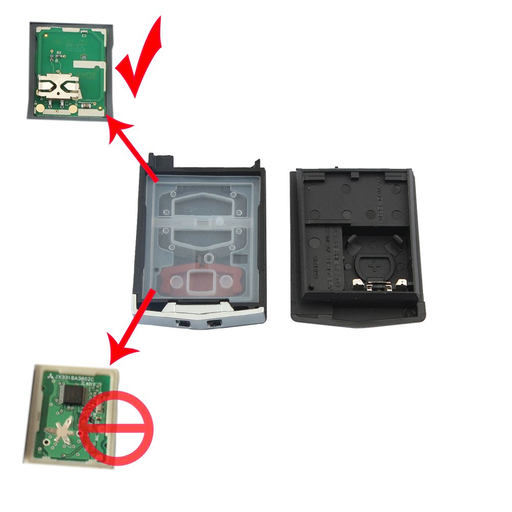 Zongsi Remote Flip Folding Key Fob Case Shell 3 Buttons for Mazda 3 5 6 RX-8 CX-7 CX-9