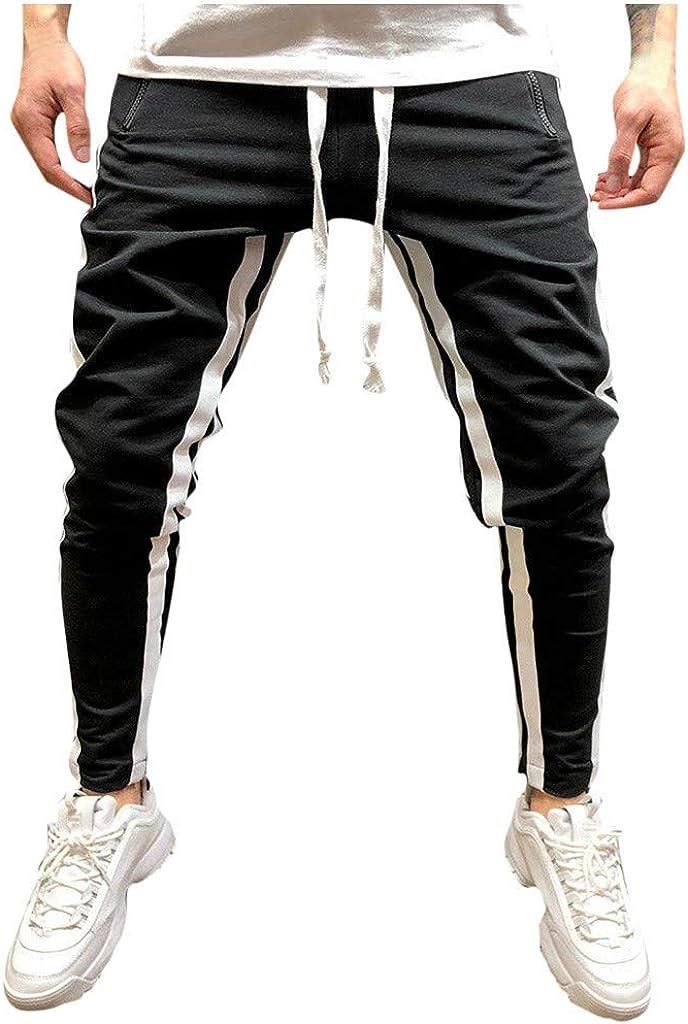 Pantalones Hombre Verano Casual a Juego Hip Hop Bolsillo Cadena ...