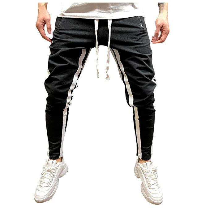 Pantalones Hombre Verano Casual a Juego Hip Hop Bolsillo ...