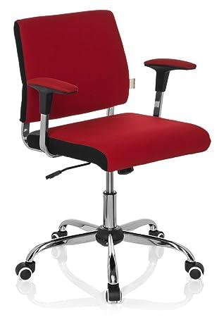 hjh OFFICE AVIDA Silla de Oficina, Tela, Rojo, 42 x 56 x 93 cm