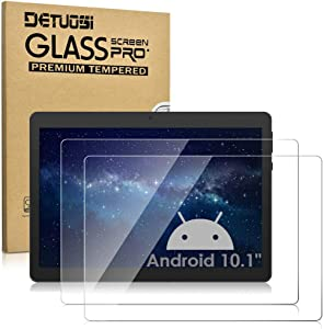 【2 Pack】DETUOSI Screen Protector Compatible with Victbing 10.1 inch, Dragon Touch K10/ Notepad K10/ Max10 10.1