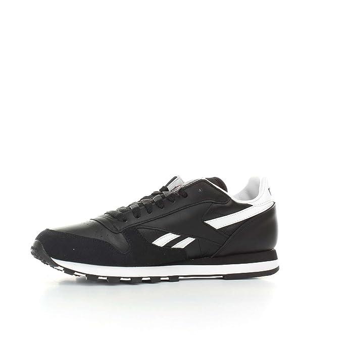 Reebok Schuhe – Cl Leather Trc schwarzweißgrau Größe: 42.5
