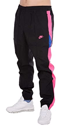 0f14fb39d43bf7 Nike Mens M NSW VW Woven Pant AO7665-010 2XL - Black Hyper Pink