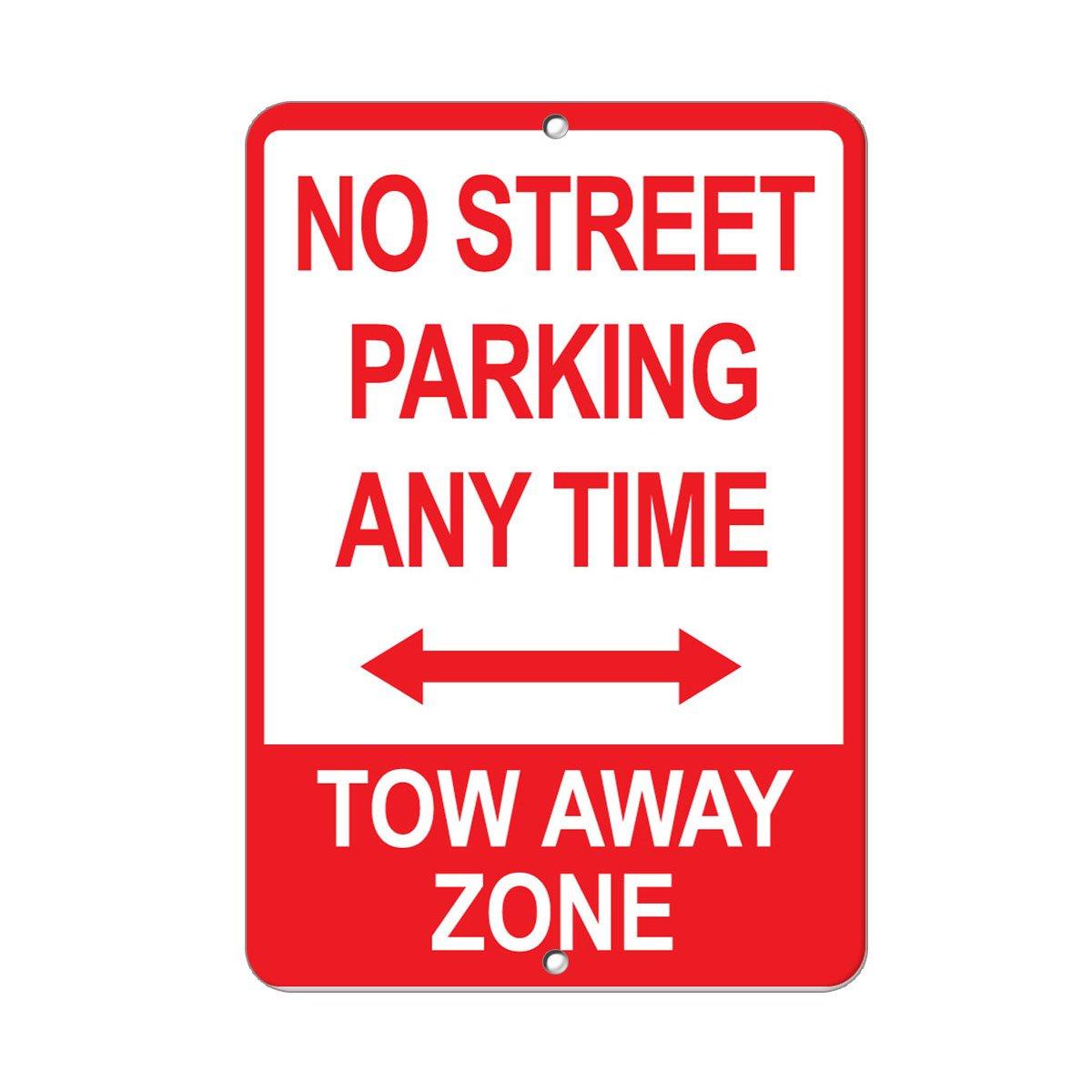 No Parking Tow Away Zone Aluminum METAL Sign