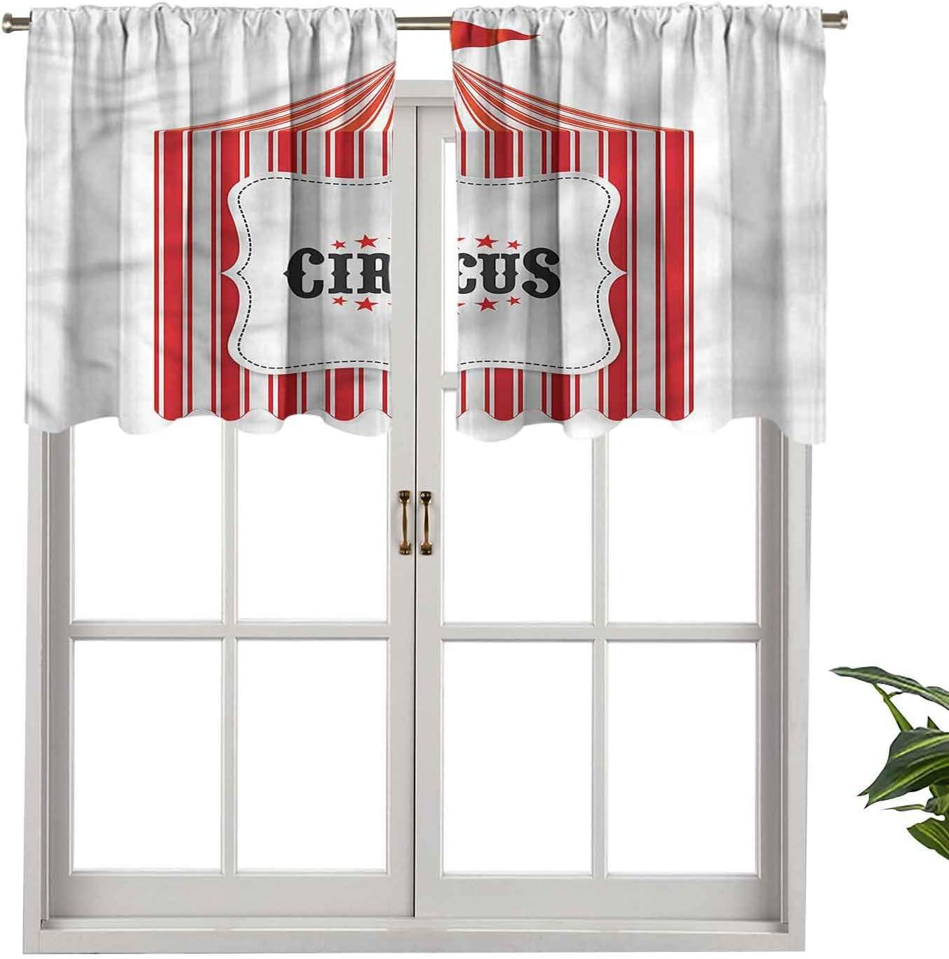 Hiiiman Fashion Design Cenefa térmica aislada ventana paneles circo tienda de campaña, juego de 1, 127 x 45 cm para habitación de niños