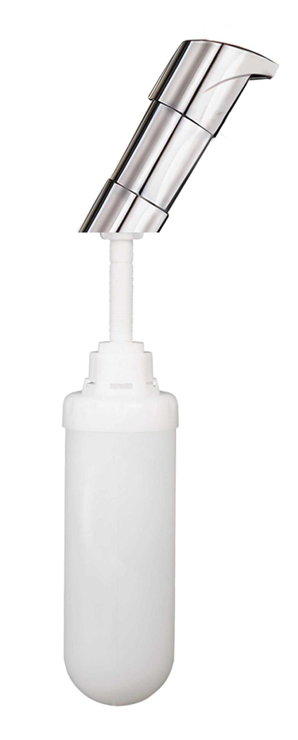 EZ Foam 9930CHR Counter Mount Dispenser, Plastic, 1000 mL, All Chrome