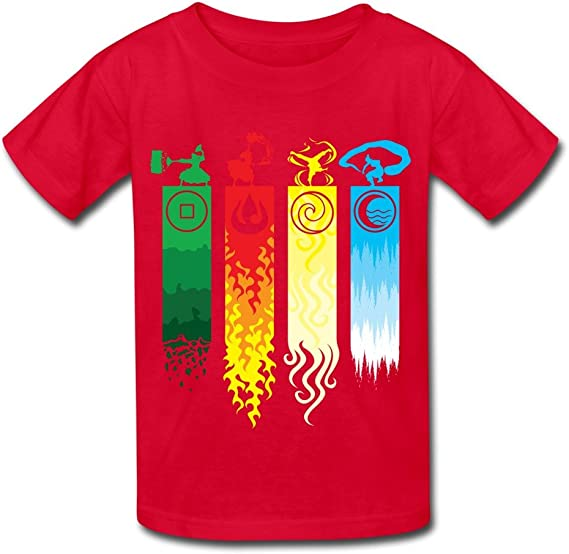 Youth Graphic T-Shirts Teenager Boys Girls T-Shirt Avatar-The Last Legend Airbender-of-Korra-Aang T Shirt Tees