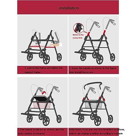 Andadores para Adultos   Aluminio   Plegable   Asiento y Respaldo ...
