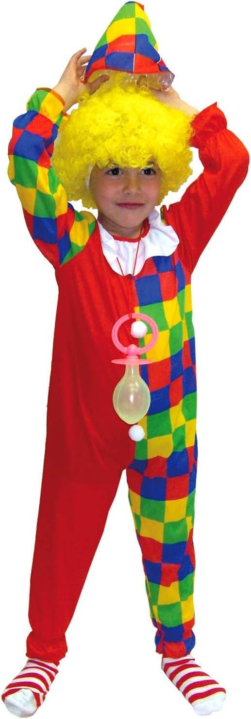 EL CARNAVAL Disfraz Clown Cuadros Bicolor Talla de 8 a 10 años ...