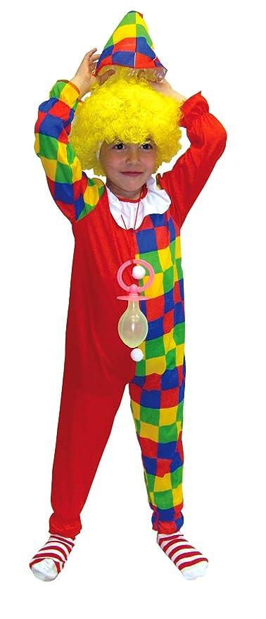 EL CARNAVAL Disfraz Clown Cuadros Bicolor Talla de 6 a 8 años ...