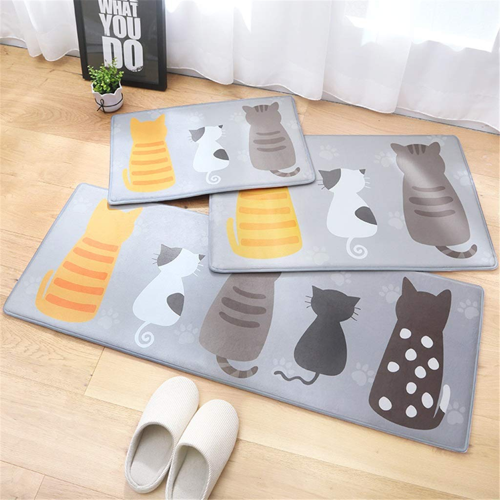 QIAO Rug Bathroom Mats Bathroom Door Mats Water Absorption Dustproof Living Room Bedroom Kitchen Carpet Easy to Clean (Color : A, Size : 45x160cm(17.71''x62.99''))