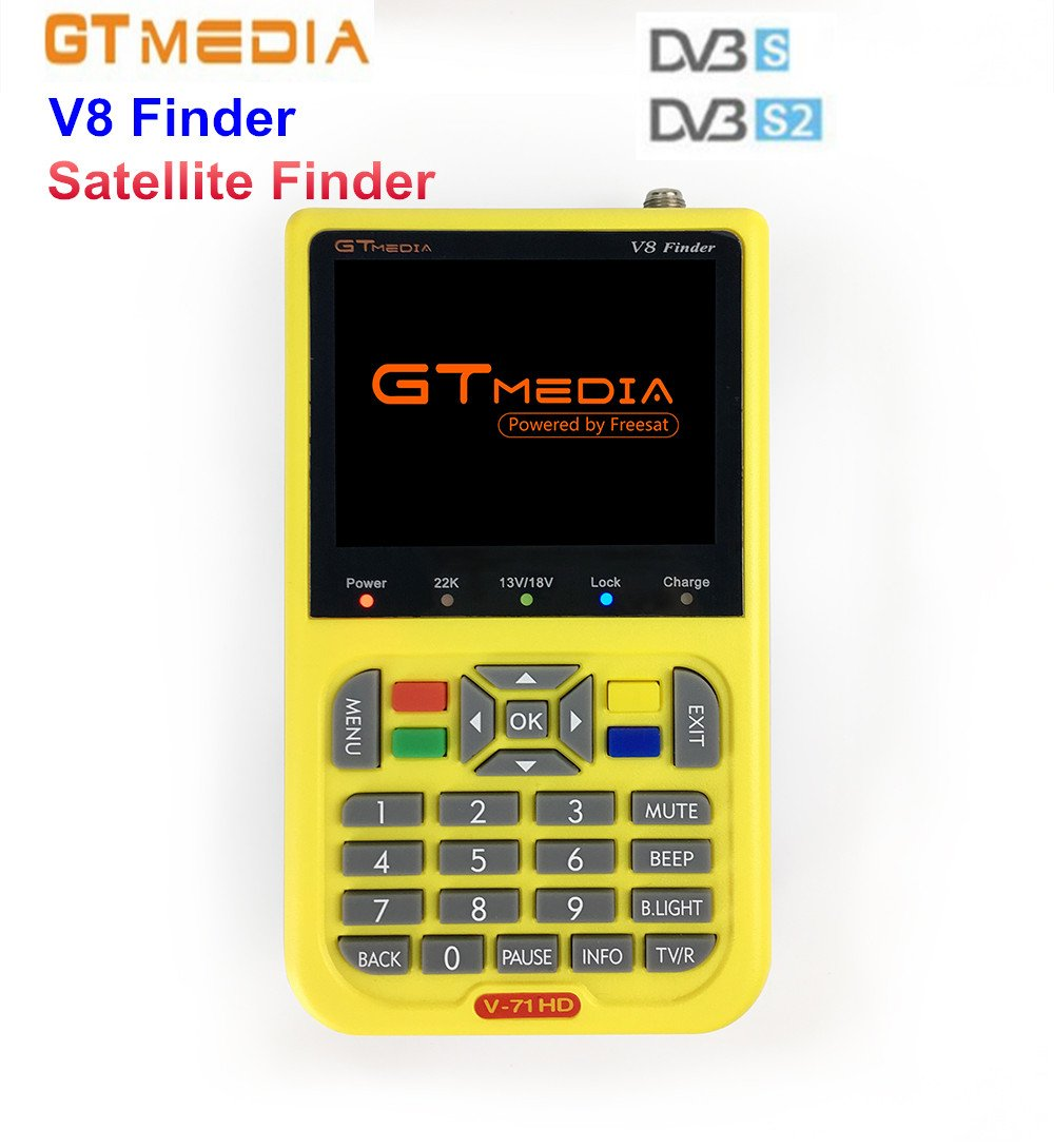 Freesat V8 Finder Digital Satellite Finder DVB-S/DVB-S2 1080P HD MPEG-2/MPEG4 3.5 inch LCD Satellite TV Receiver