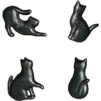 MagiDeal 4 x gietijzeren kattenvormige kastmeubelen deurknop kast trekker