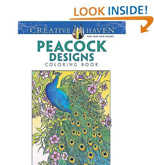 Creative Haven Peacock Designs Coloring Book Books