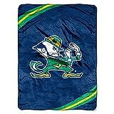The Northwest Company NCAA Notre Dame Fighting Irish Rebel Raschel Throw Blanket, 50'' x 60'', Blue