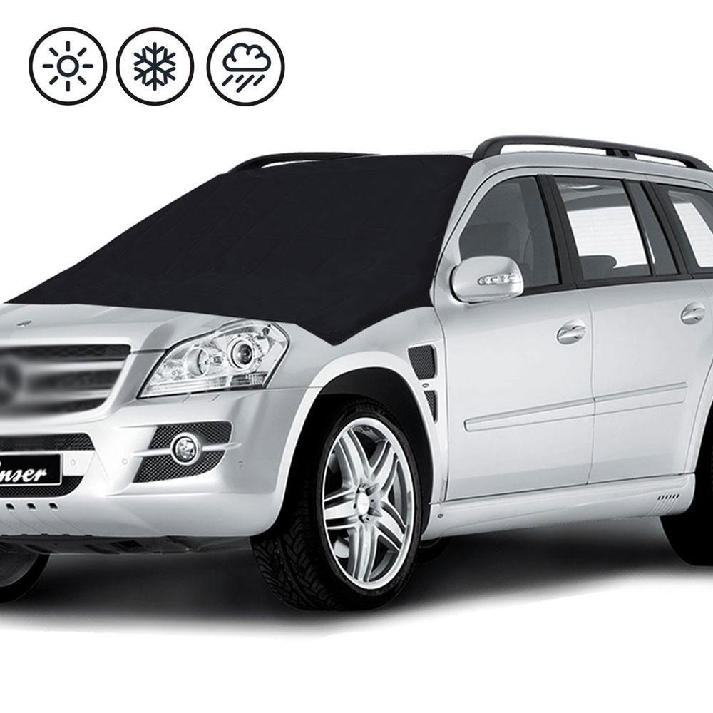 niceeshop(TM) Magnetic Mindshield Cover,niceEshop (TM) Snow Frost Windshield Cover New 6x Magnets Fits SUV, Truck & Car Windshields-Large over 210cm X 120cm