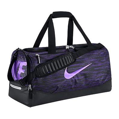 257cd9c3ca58 New Nike Team Training Max Air Graphic Medium Duffel Bag Court Purple Black  Hyper