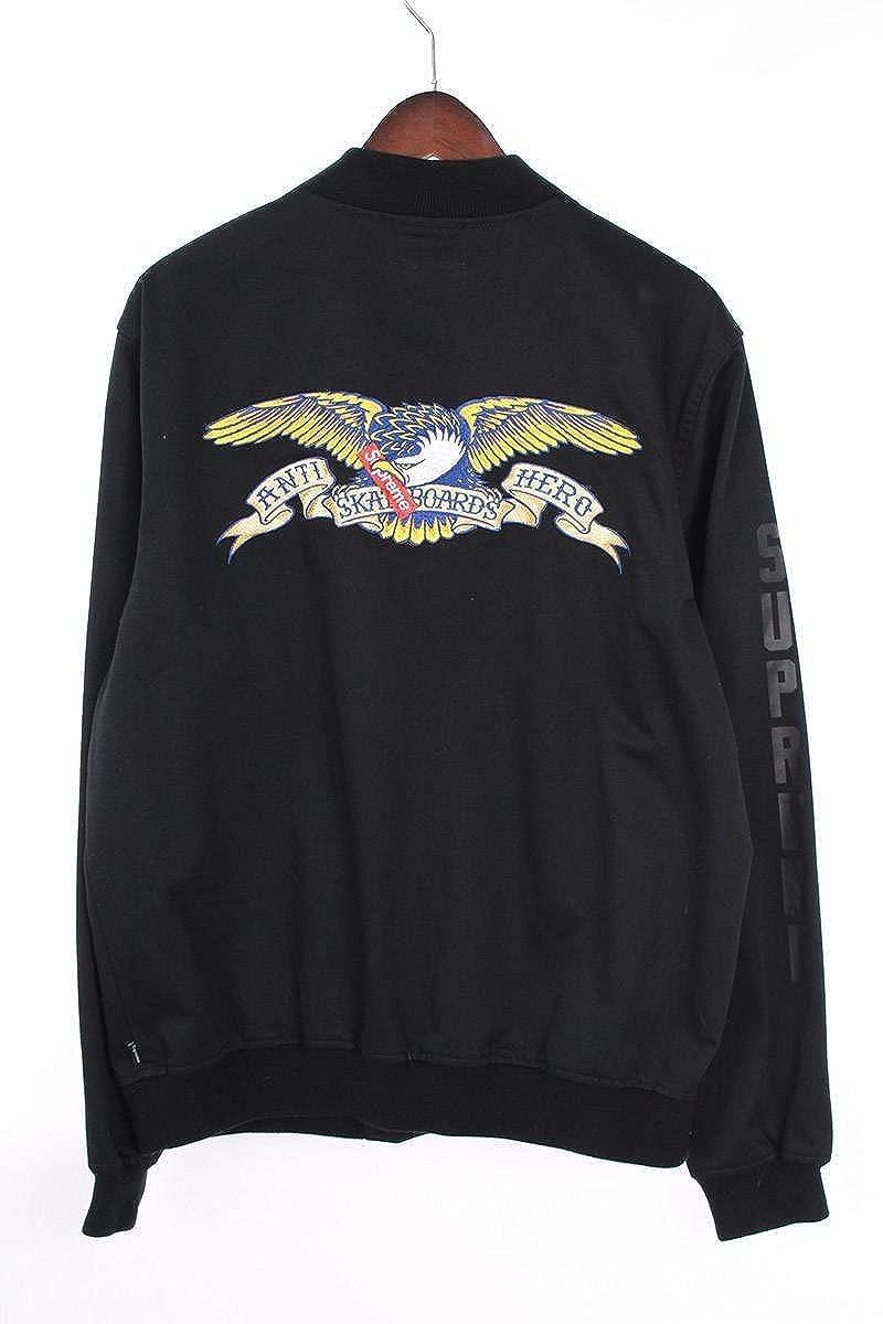(シュプリーム) SUPREME 【16SS】【Bomber Jacket】×ANTIHEROバックイーグル刺繍ボンバーブルゾン(S/ブラック) 中古 B07FZJWJLD