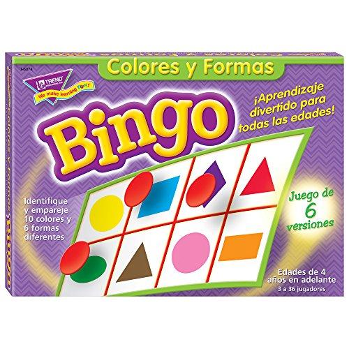 Classroom Picture Bingo - Bingo de Colores y Formas (Spanish Colors & Shapes) Bingo