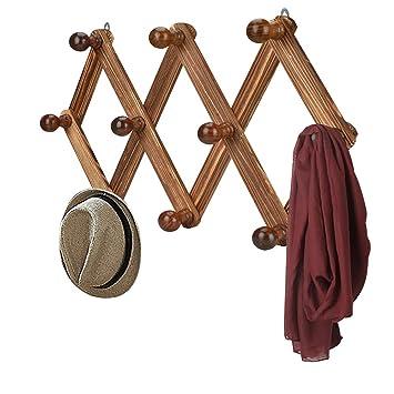 Amazon.com: Eluck - Perchero de madera con 10 ganchos ...