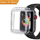 GHIJKL Case for Apple Watch 3 2 38mm, Bumper Accessories Ultra Slim Protector Cover for Apple Watch Series 3 Series 2, Crystal Clear