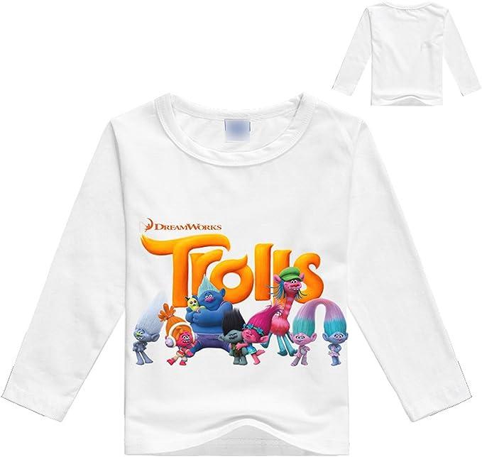 PCLOUD Trolls Cartoon Printing Short Sleeves T-Shirt