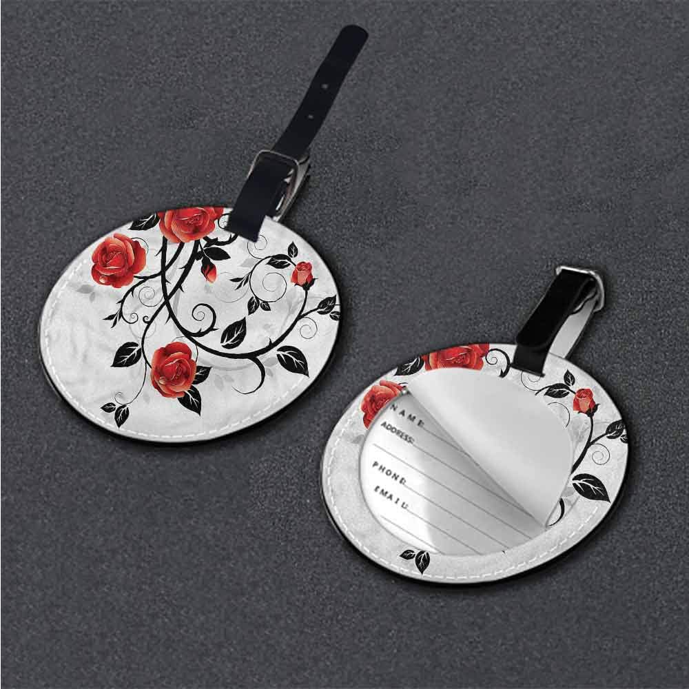 Creative boarding pass Gothic,Woman with Long Hair Retro Round Luggage Tags