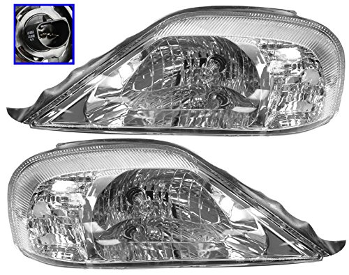 Headlights Headlamps Left & Right Pair Set for 00-05 Mercury Sable