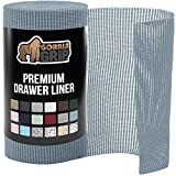 Gorilla Grip Original Drawer and Shelf Liner, Non Adhesive Roll, 20 Inch x 10 FT, Durable and Strong, Grip Liners for Drawers, Shelves, Cabinets, Storage, Kitchen and Desks, Light Blue