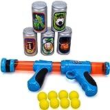 Popper Ball Shooter Gun Toy - Wishtime TOP17014 EVA Foam blasters Plastic Power Toys Gun Pistols for Outdoor Target Games Fun Christmas Gift for Kids