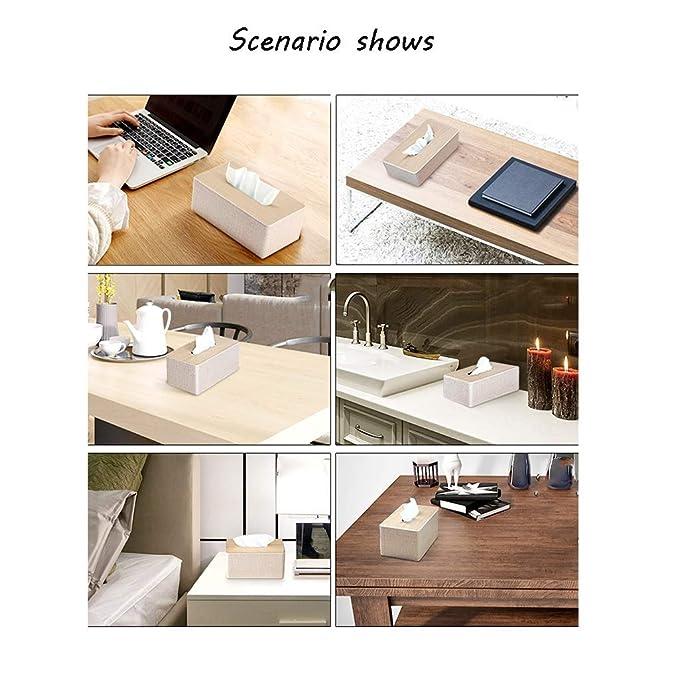 Tissue Storage Box Caja de pañuelos Bandeja de servilletas doméstica Mesa de café Caja de pañuelos Caja de pañuelos Rectangular Simple baño Hotel ...