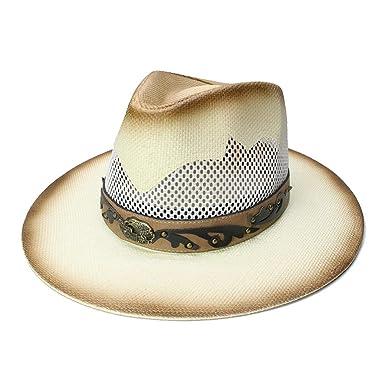 6e20fe250 Straw Sun Breathable Mesh Beach Wide Brim Hollow Out Panama Hat ...