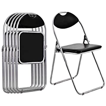 Amazon.com: Set de mesa y sillas plegables Giantex, Negro ...