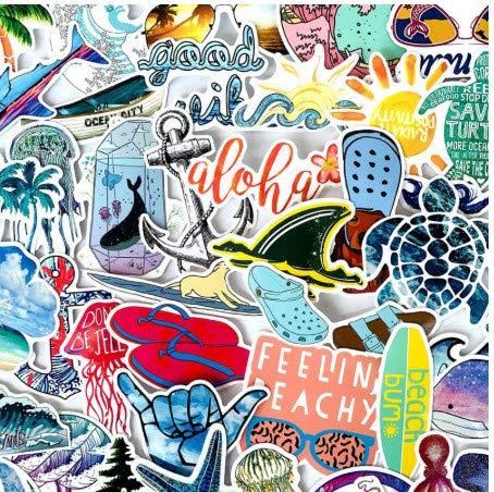 XXCKA Summer Beach Stickers Surfing Sea Turtle Decal para Laptop ...