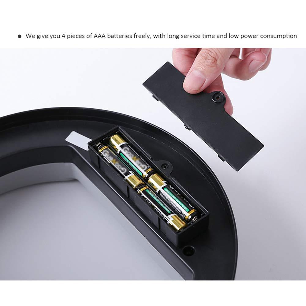 Infrarrojo autom/ático sin Contacto Inteligente Contenedor de Basura de Basura Basura de la Cocina Forma Redonda 23 20.6 Galapara Cubo de Basura de Acero Inoxidable con Sensor autom/ático 34.5cm
