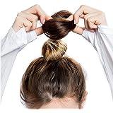 FEIYI WIGSウィッグ シュシュ100%人毛 お団子 コーム式/クリップ式 つけ毛 エクステ 部分ウィッグ シニヨン 髪飾り 結婚式 和装 装着簡単