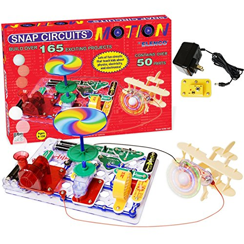 Deluxe Voice Changer (Snap Circuits Deluxe Motion Electronics Discovery Kit with battery Eliminator No Soldering. No Tools. No Batteries. Its a Snap.)