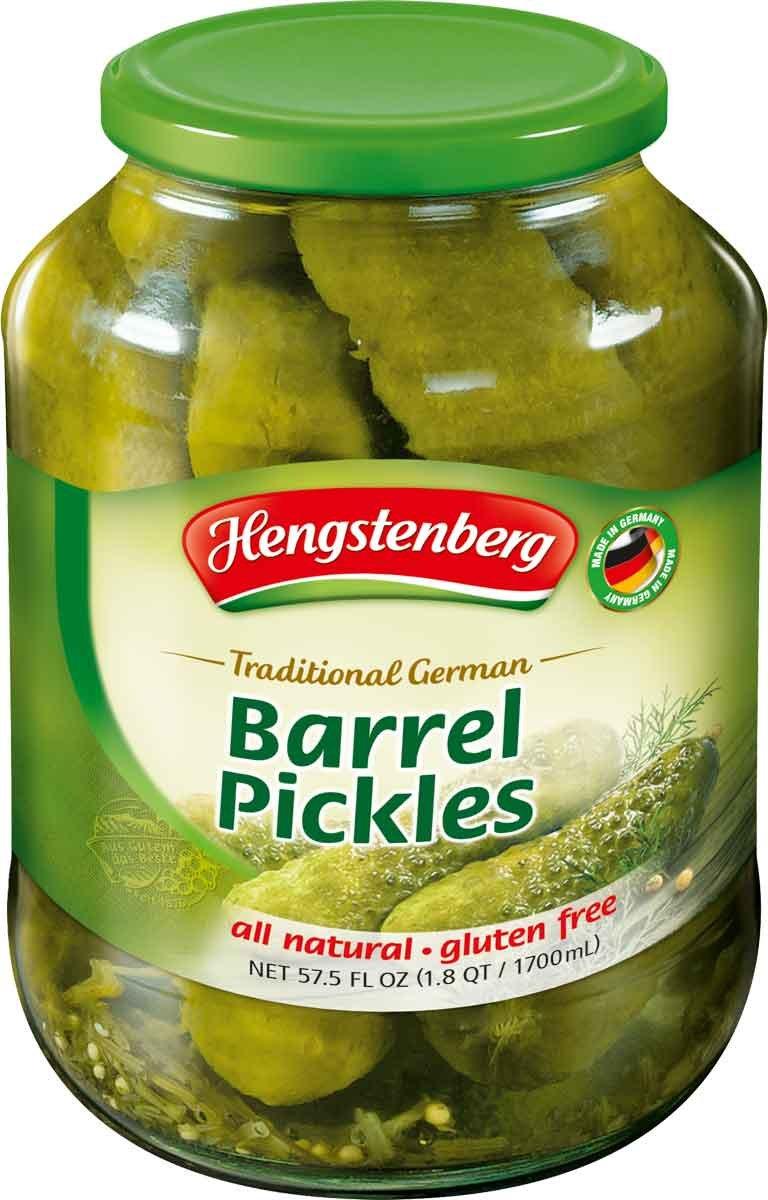 Hengstenberg Traditional German Barrel Pickles, 57.5 Ounce
