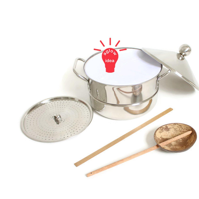 Banh cuon steamer pot set - Vietnamese Noi banh cuon - Stainless steel steamer