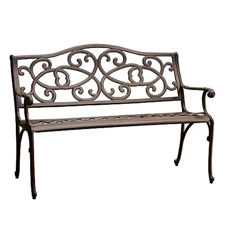 Best Selling Vine Cast Aluminum Outdoor Bench