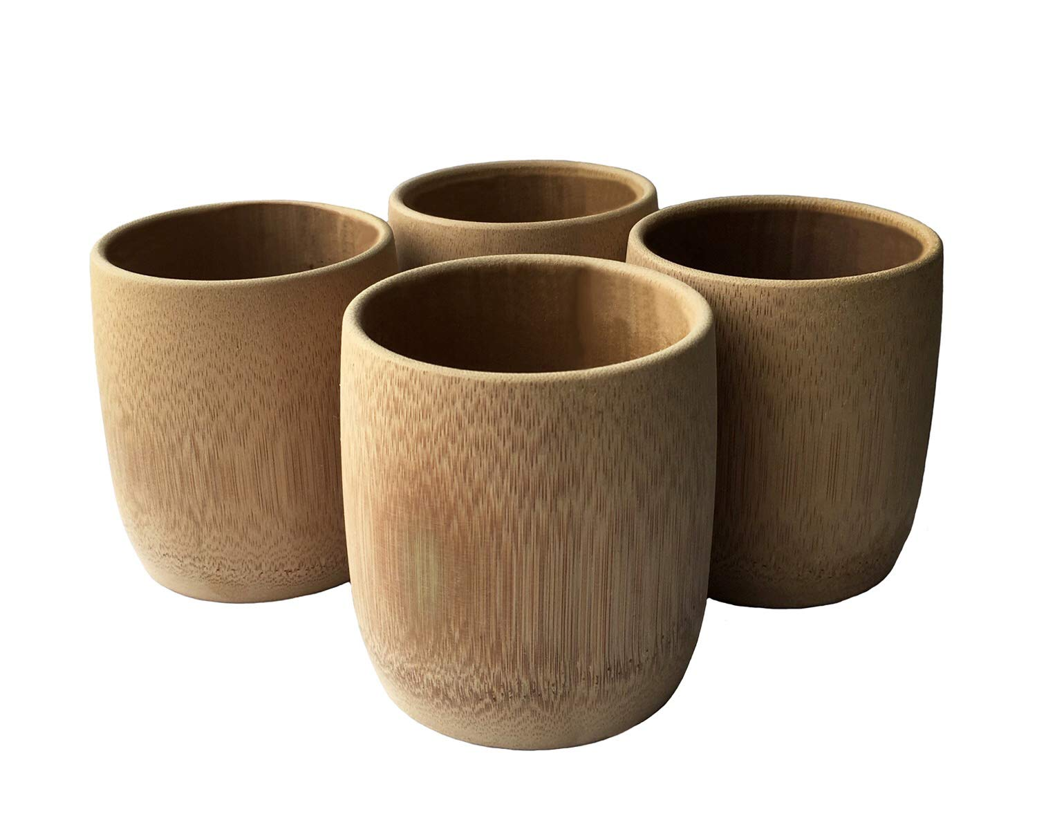 KCHAIN 4pcs Drinking Cups for Sake Coffee Tea (200mL Bamboo cups)