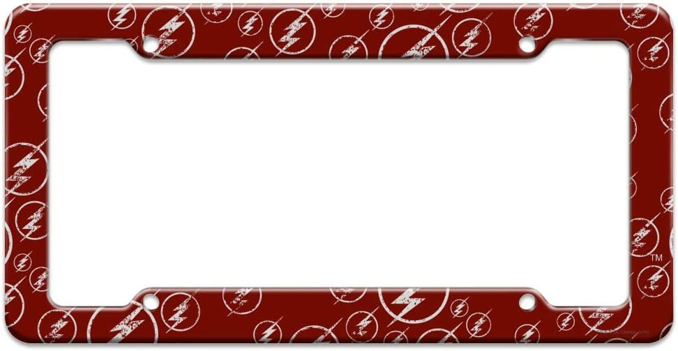 Graphics and More The Flash TV Series Logo Pattern License Plate Tag Frame