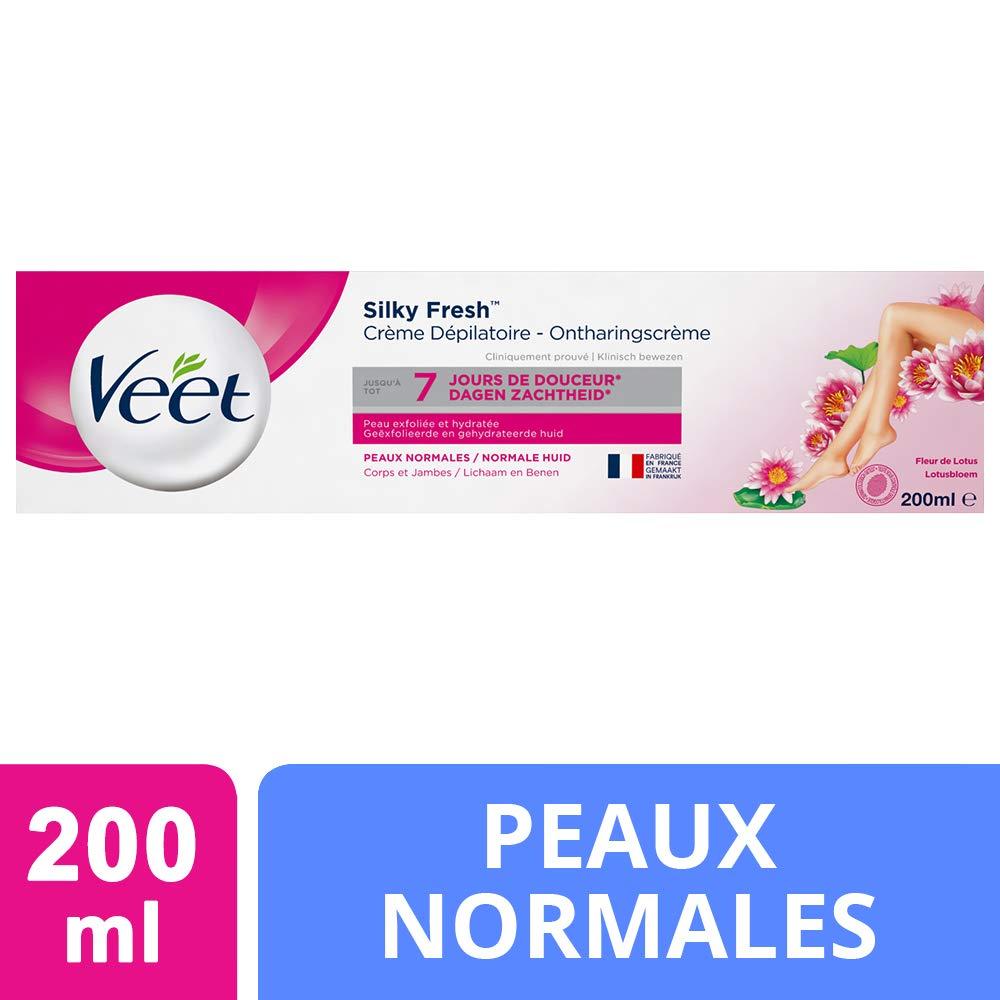 Veet Ontharingscreme Silk & Fresh Norlmale Huid Hair Remover for Women, 6.7 Ounce